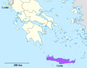 Crete and Corfu