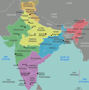 Map of Indian Administration Regions