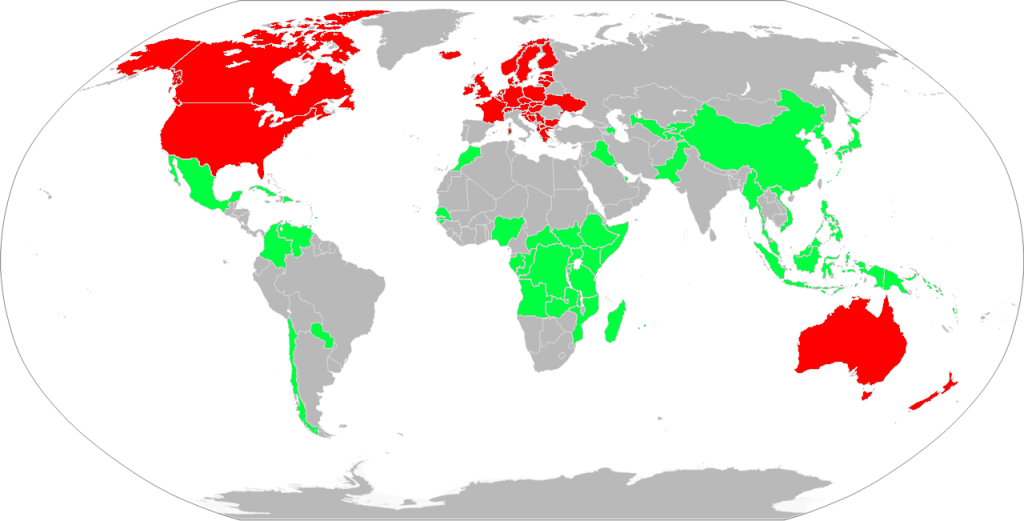 Countries of the World - Multiple Sclerosis Mortality Rates